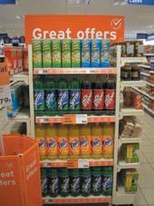 retail shelf graphics